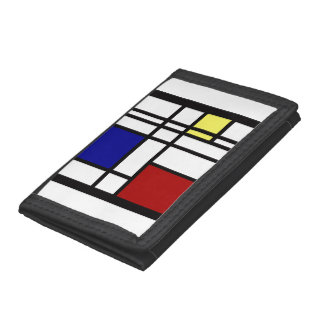 Mondrian Impression Art Trifold Wallet