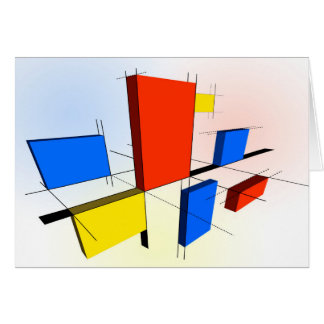 Mondrian Inspired 3D Card
