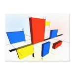 Mondrian Inspired 3D Stretched Canvas Prints