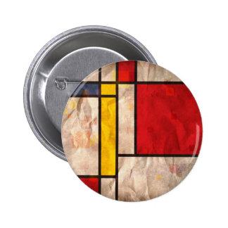 Mondrian Inspired Pinback Buttons