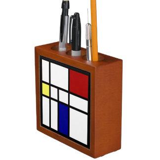 Mondrian Inspired Design Desk Organiser
