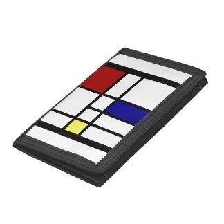 Mondrian Inspired Design Trifold Wallet