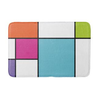 Mondrian Inspired Modern Remix Bath Mats