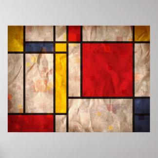 Mondrian Inspired Print
