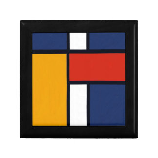 Mondrian Inspired Small Square Gift Box