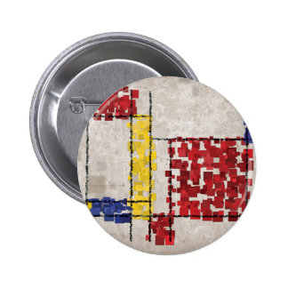 Mondrian Inspired Squares Pins