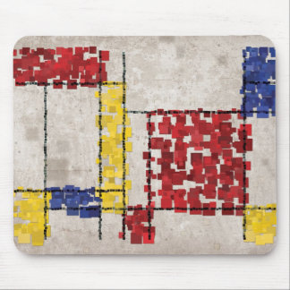 Mondrian Inspired Squares Mouse Pad