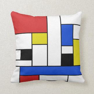 Mondrian Lines Throw Pillow