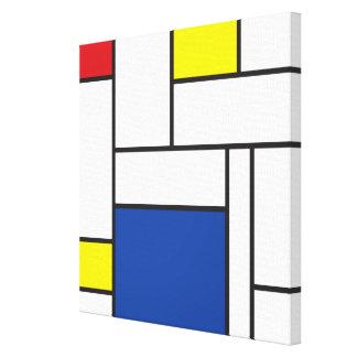 Mondrian Minimalist De Stijl Art Canvas Print