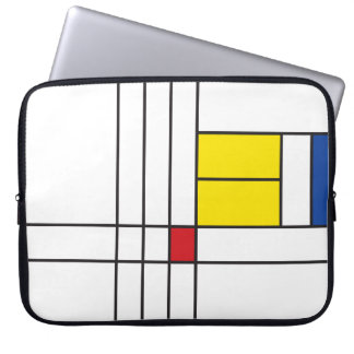 Mondrian Minimalist De Stijl Art Electronics Bag Computer Sleeve