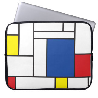 Mondrian Minimalist De Stijl Art Electronics Bag Laptop Sleeve
