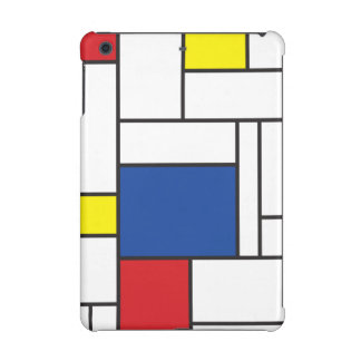 Mondrian Minimalist De Stijl Art iPad Mini Case