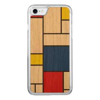Mondrian Minimalist De Stijl Art iPhone 6 Carved iPhone 7 Case