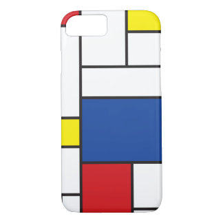 Mondrian Minimalist De Stijl Art iPhone Case