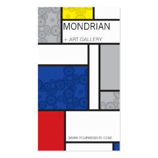 Mondrian Minimalist De Stijl Art Retro Circles Business Cards