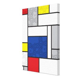 Mondrian Minimalist De Stijl Art Retro Circles Canvas Prints