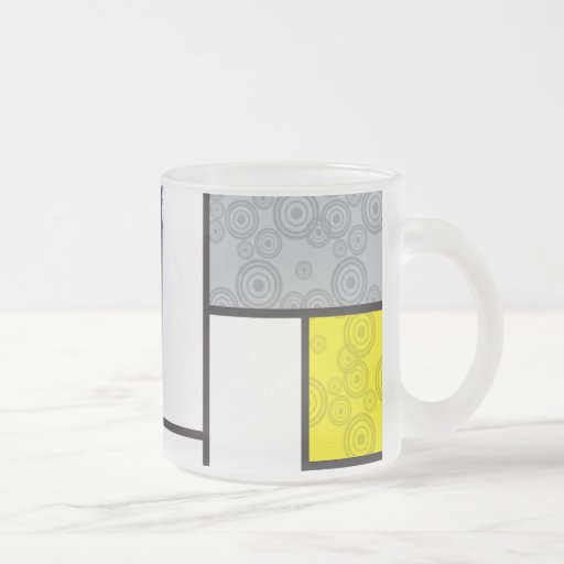 Mondrian Minimalist De Stijl Art Retro Circles Coffee Mugs