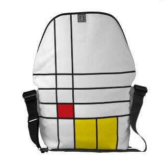 Mondrian Minimalist De Stijl Art Rickshaw Messenge Courier Bags