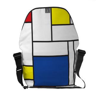 Mondrian Minimalist De Stijl Art Rickshaw Messenge Messenger Bag