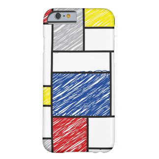Mondrian Minimalist De Stijl Art Scribbles iPhone Barely There iPhone 6 Case
