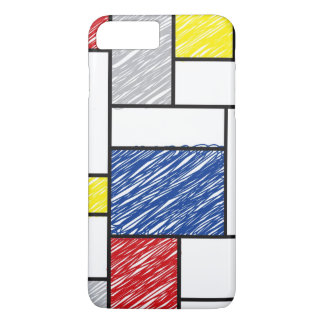 Mondrian Minimalist De Stijl Art Scribbles iPhone iPhone 7 Plus Case
