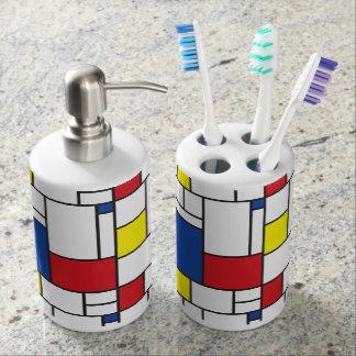 Mondrian Minimalist De Stijl Modern Art Bath Set