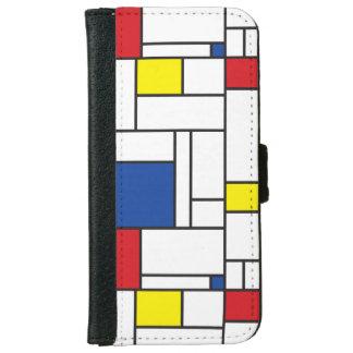 Mondrian Minimalist De Stijl Modern Art Case iPhone 6 Wallet Case