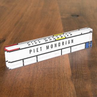 Mondrian Minimalist De Stijl Modern Art Custom Nameplate