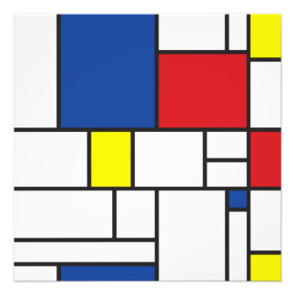 Mondrian Minimalist De Stijl Modern Art Custom Photo Print