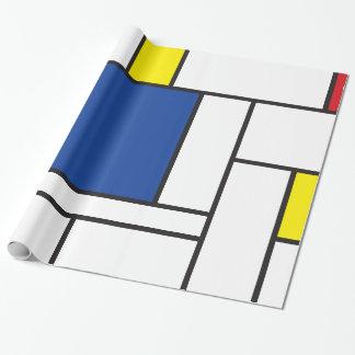 Mondrian Minimalist De Stijl Modern Art Custom Gift Wrap Paper
