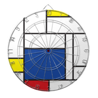 Mondrian Minimalist De Stijl Modern Art Dart Board