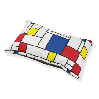 Mondrian Minimalist De Stijl Modern Art Dog Bed