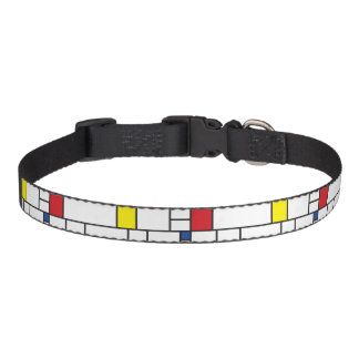 Mondrian Minimalist De Stijl Modern Art Dog Collar