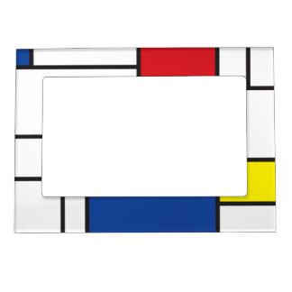 Mondrian Minimalist De Stijl Modern Art  Frame Photo Frame Magnets