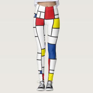 Mondrian Minimalist De Stijl Modern Art Leggings