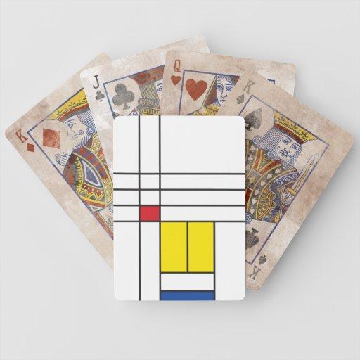 Mondrian Minimalist De Stijl Modern Art Playing Bicycle Playing Cards