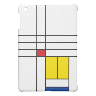 Mondrian Minimalist De Stijl Modern Art Simple iPad Mini Cover