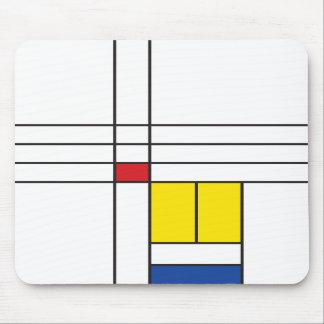 Mondrian Minimalist De Stijl Modern Art Simple Mouse Pads