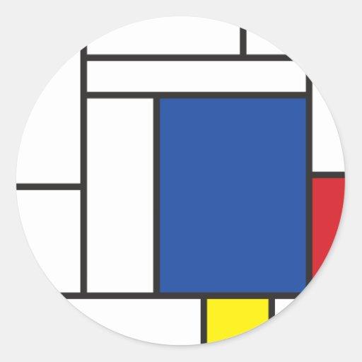 Mondrian Minimalist De Stijl Modern Art Simple Stickers