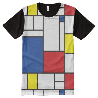 Mondrian Minimalist De Stijl Modern Art T-shirt All-Over Print T-Shirt