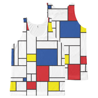 Mondrian Minimalist De Stijl Modern Art Tank Top All-Over Print Tank Top