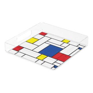 Mondrian Minimalist De Stijl Modern Art Tray