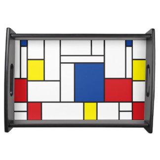 Mondrian Minimalist De Stijl Modern Art Tray Serving Trays