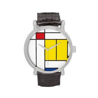 Mondrian Minimalist De Stijl Modern Art Watch