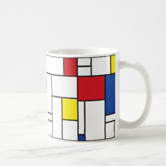 Mondrian Minimalist De Stijl Modern Modern Art Basic White Mug