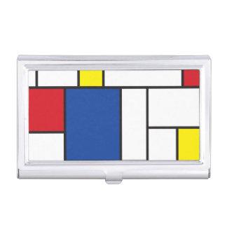 Mondrian Minimalist De Stijl Modern Modern Art Business Card Case