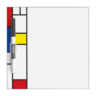 Mondrian Minimalist De Stijl Modern Modern Art Dry Erase Board