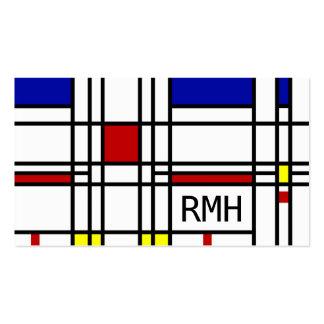 Mondrian Modern Art Business Cards