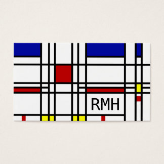 Mondrian Modern Art Business Card