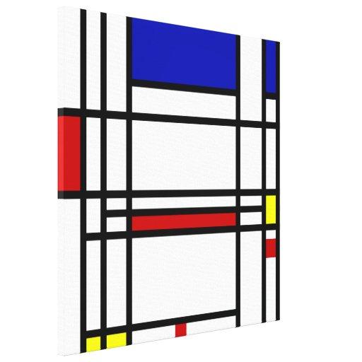 Mondrian Modern Art Stretched Canvas Print